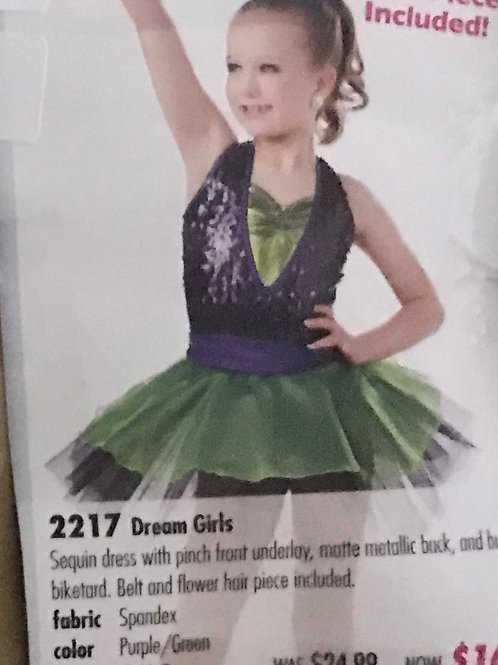 SMALL GROUP-Purple Sequins Halter with Green Tutu