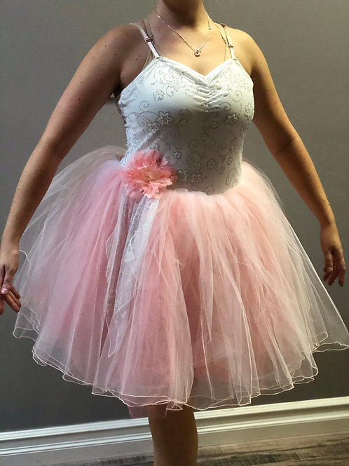 SMALL GROUP-Pink and White Romantic Tutu