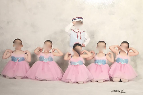 SMALL GROUP- Pink Tutu with Blue top and Pink Fur