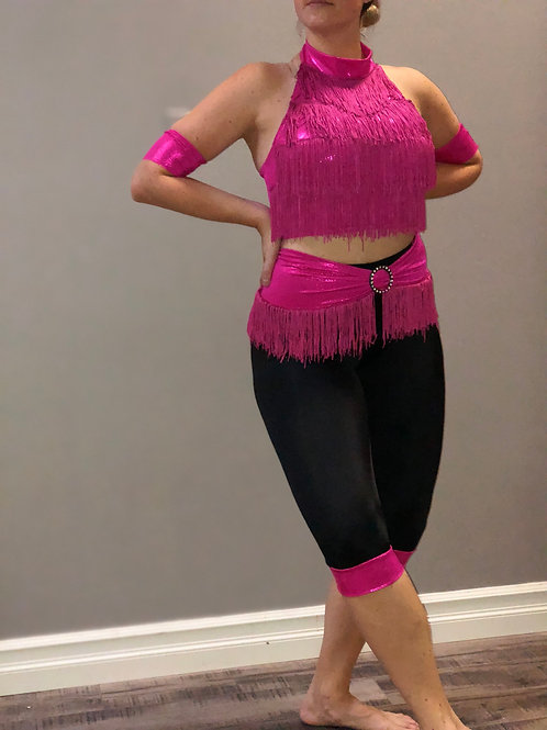 SMALL GROUP-Pink Two Piece Fringe