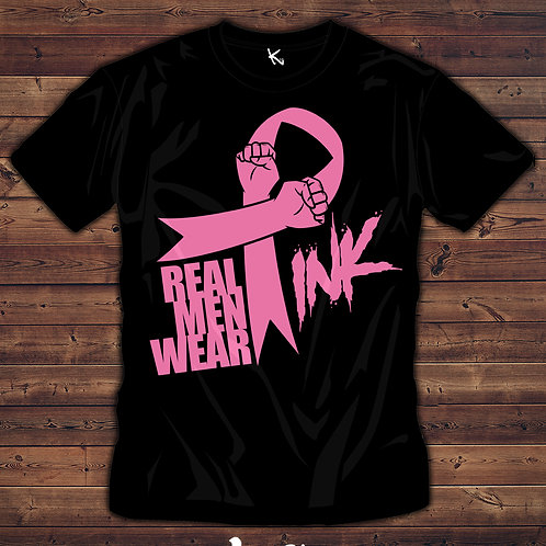 "F*** CANCER ""REAL MEN WEAR PINK"""
