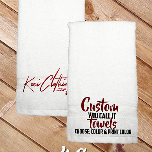 YOU-CALL IT CUSTOM TOWELS (SET OF 2)