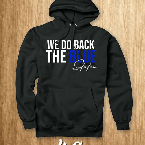 "WE BACK THE BLUE ""STATES""(HOODIE)"