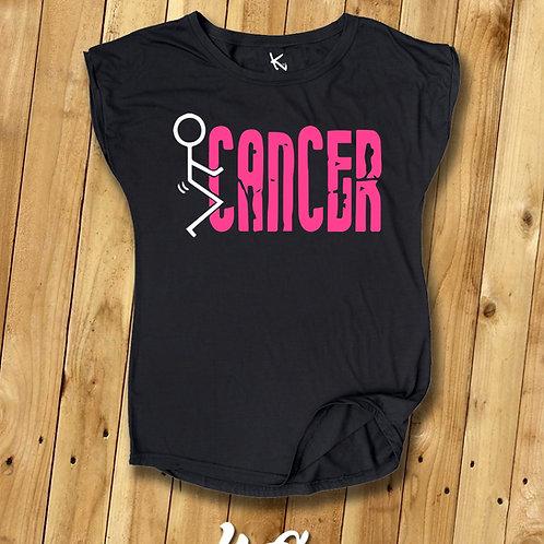 "F*** CANCER TEE ""Stick Figure"""