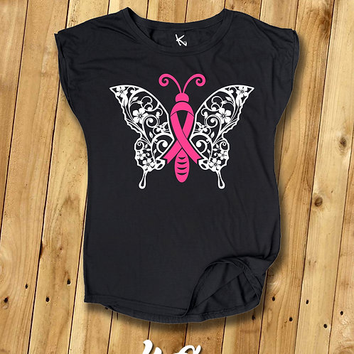 "F*** CANCER TEE ""Butterfly II"""