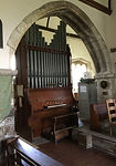 St Bartholomew's, Shapwick - the organ