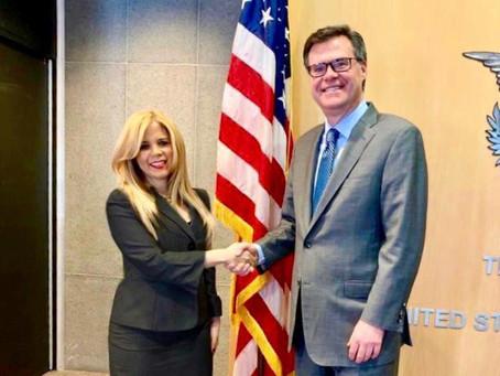 Embajadora Katrina Naut fortalece lazos de RD en organismos multilaterales