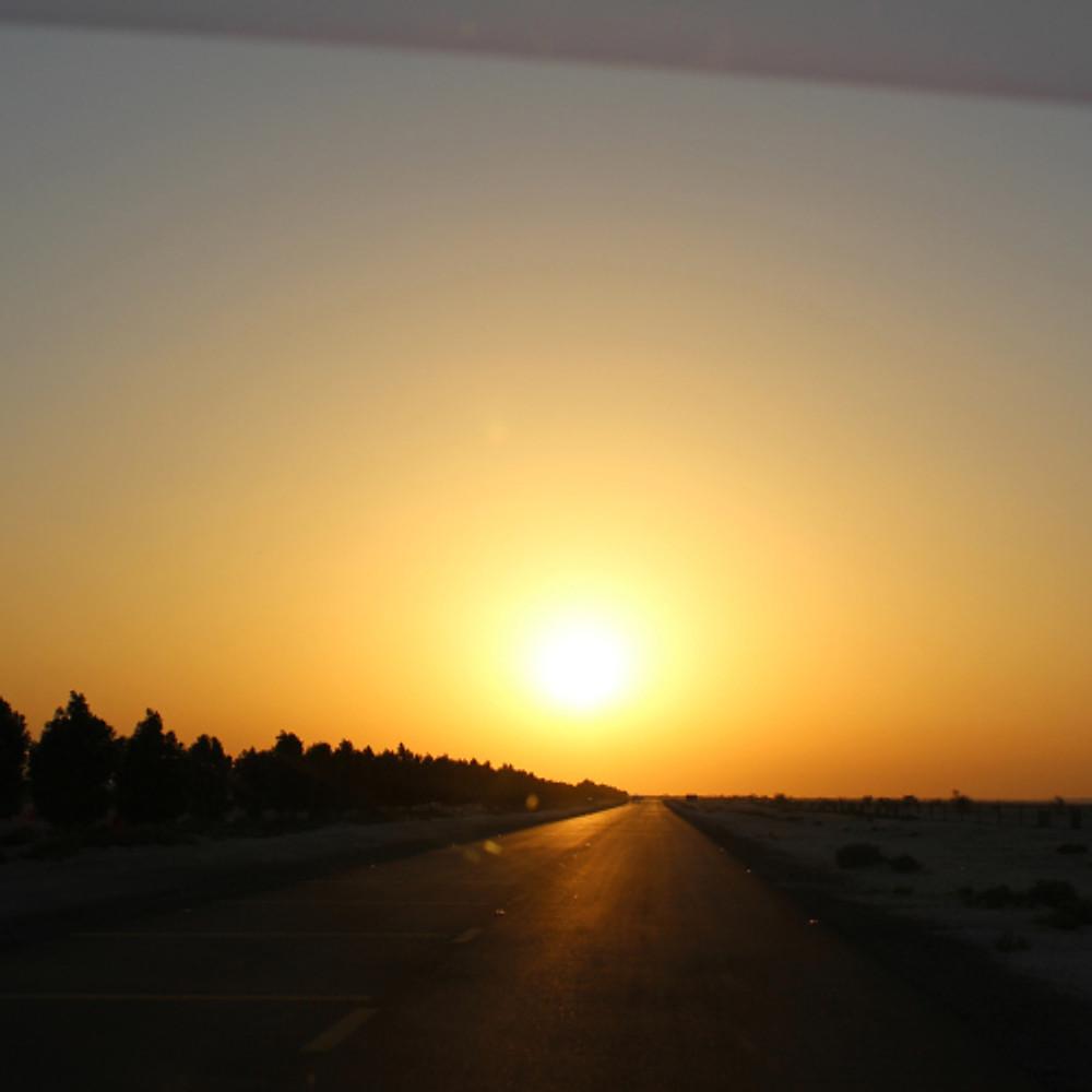 solnedgangen ...som vi fikk sett fra bilen ;)