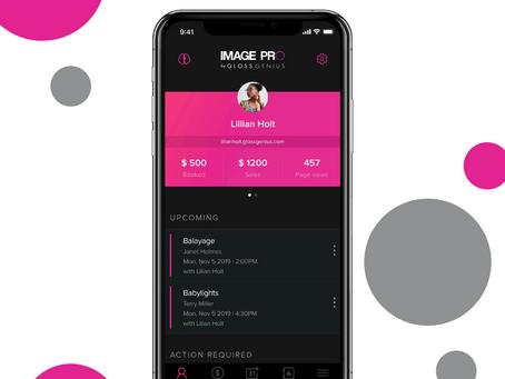 IMAGE Studios® partners with GlossGenius on a custom app!