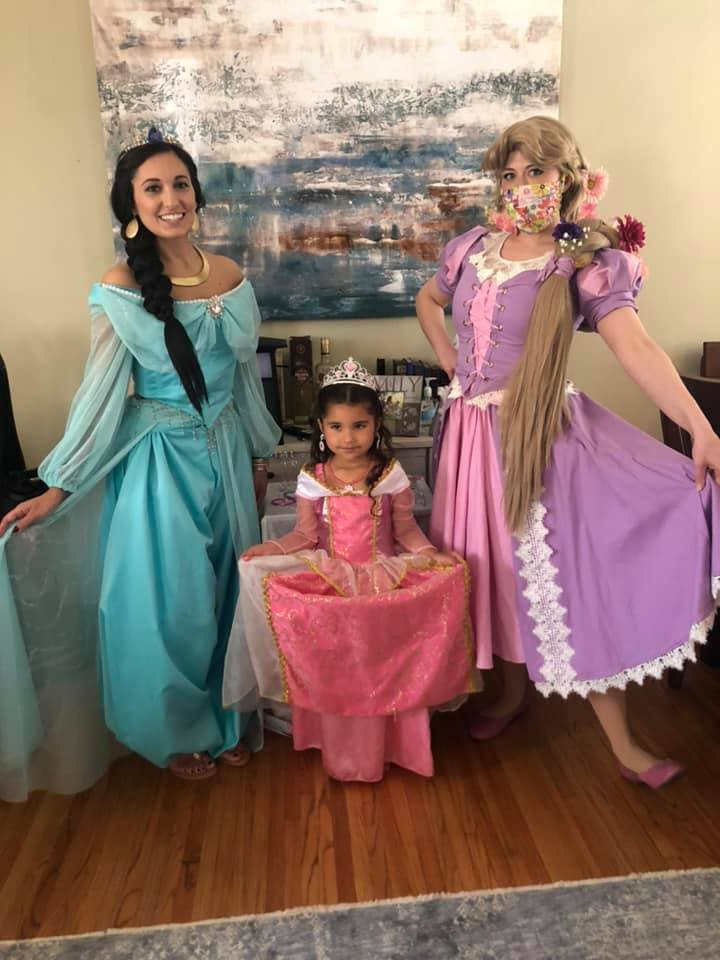 Rapunzel and Jasmine at Birthday Party Omaha