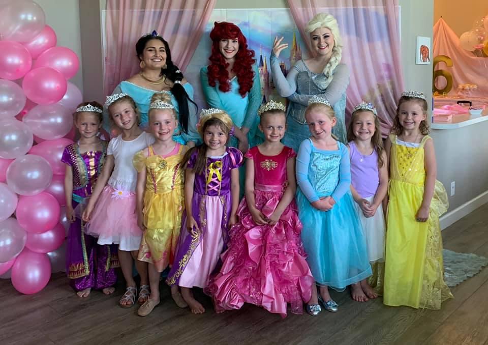 Jasmine Ariel Elsa at Birthday Party Omaha NE