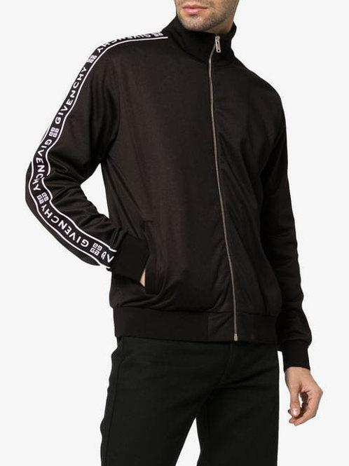 GIVENCHY Ticker Sleeve Logo Zip Up Track Jacket