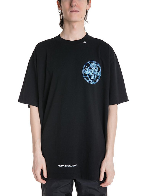 OFF-WHITE c/o Virgil Abloh 3D Crossed Oversized Tee