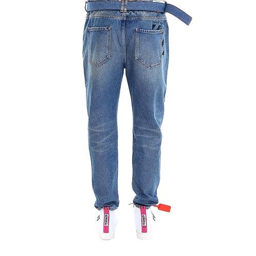 OFF-WHITE Paint Splattered Jeans