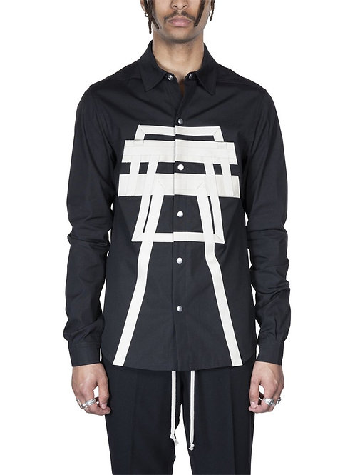 Rick Owens Tecuatl Embroidered Outershirt