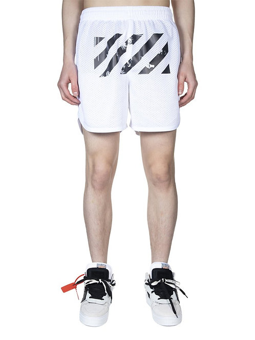 OFF-WHITE c/o Virgil Abloh Caravaggio Arrow Mesh Shorts