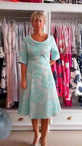 Shine in this fabulous aqua dress!