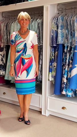 A dress with colour!