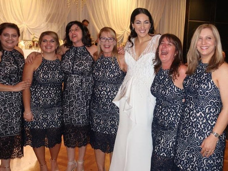 One wedding, six guests, one dress!