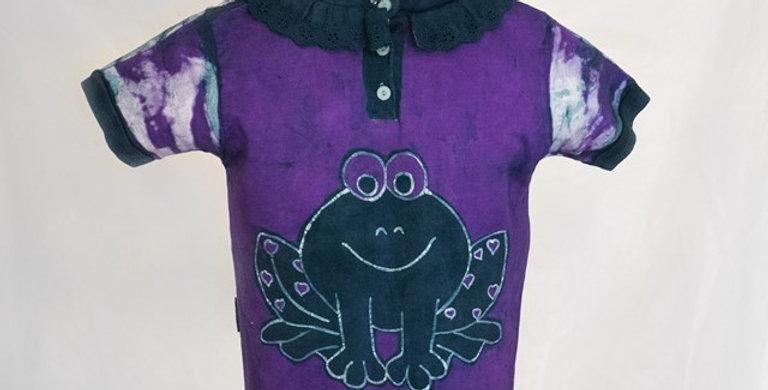 Batik purple t-shirt for girl
