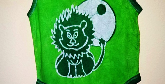 Green Smiling Lion One Piece