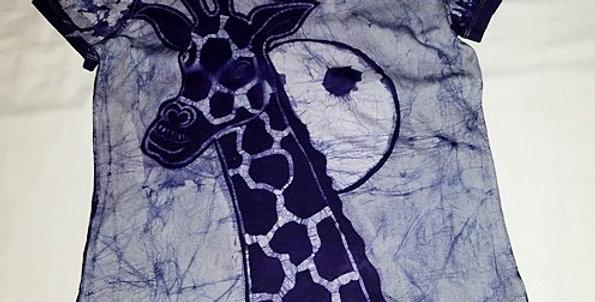 Deep Blue Giraffe Short sleeve