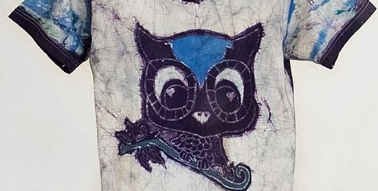Deep Blue Cute Owl