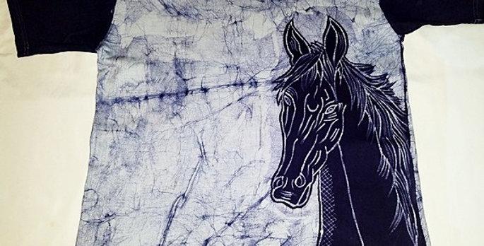 Deep blue Horse T-shirt