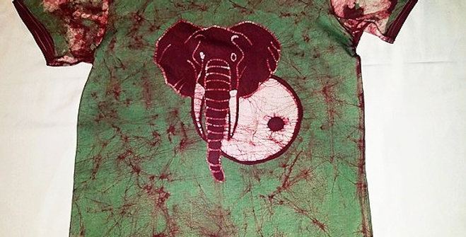 Green T-shirt w/ Elephant design