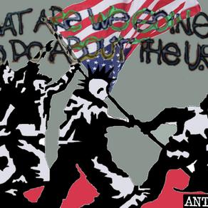 矛盾大對決:美國左翼對談舉美國旗的反送中示威者
