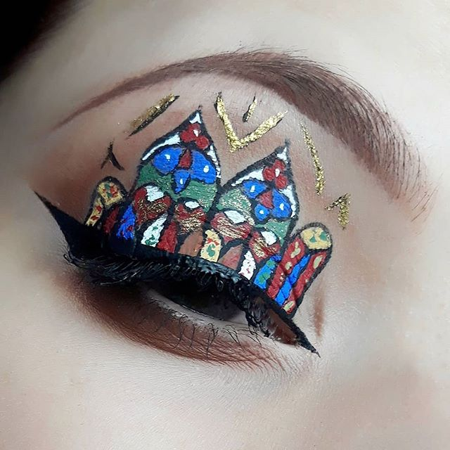 Stained Glass look ⛪_One of the most challenging I've done 😊_