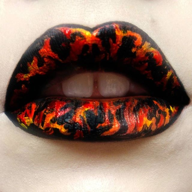 Lips on fire 🔥_