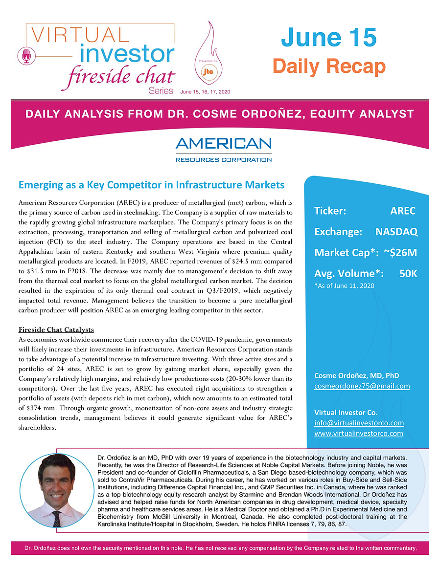 American Resources_VIFireside Chat Daily