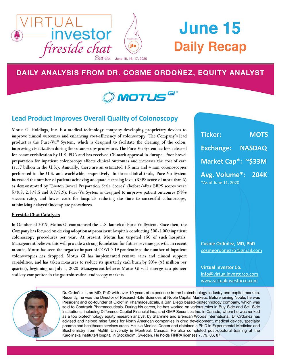 VIFireside Chat Daily Recap 2020_Motus G