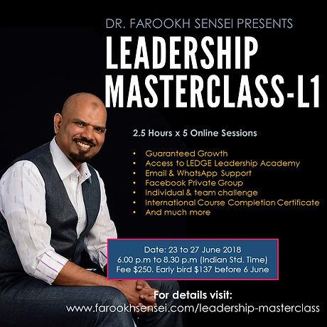 Farookh Sensei Leadership MasterClass