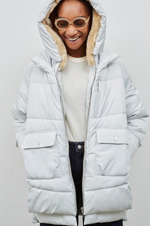 LYNDON PUFFER JACKET, OFF WHITE - EMBASSY OF BRICKS AND LOGS