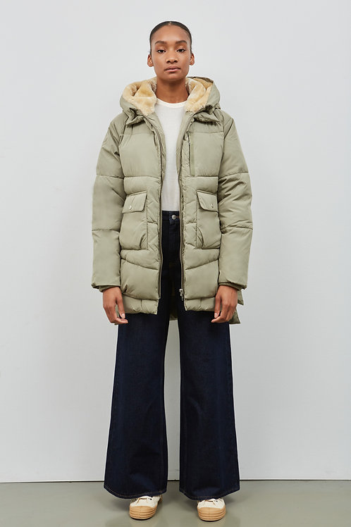 LYNDON PUFFER JACKET, PALE OLIVE - EMBASSY OF BRICKS AND LOGS