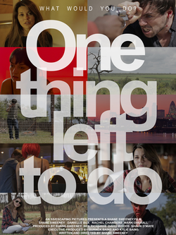 ONE THING LEFT TO DO 1200X1600 ARTWORK