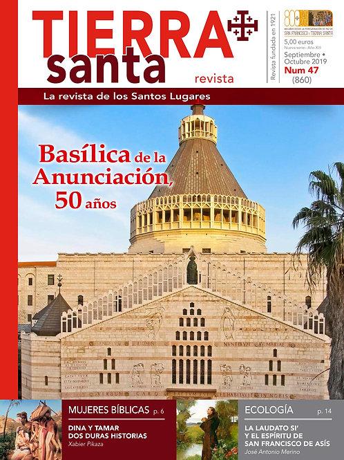 Revista Tierra Santa formato digital pdf. Ejemplar actual.