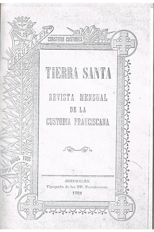 Revista Tierra Santa en formato digital pdf. Ejemplares atrasados.