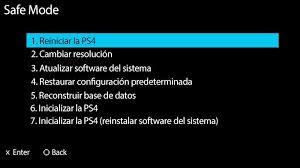 Inicializar PS4