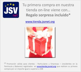 Registrarse en www.tienda.jsvnet.org viene con regalo!!