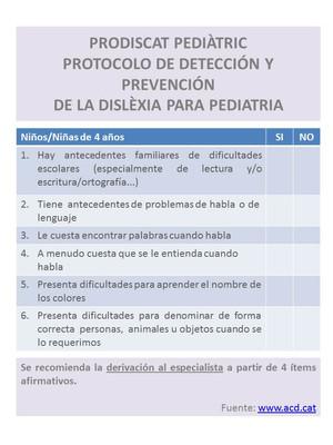 PRODISCAT PEDIATRIC - Protocolo de detección de la #dislexia para niños (a partir de 4 años)
