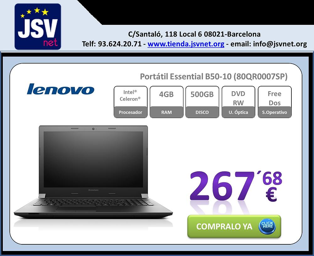 Portátil Lenovo Freedos a un précio increible