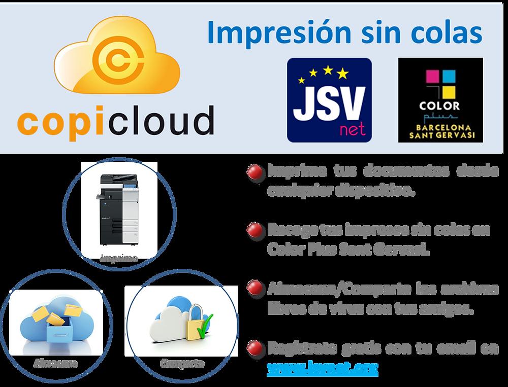 JSVnet - Copicloud la nube que imprime