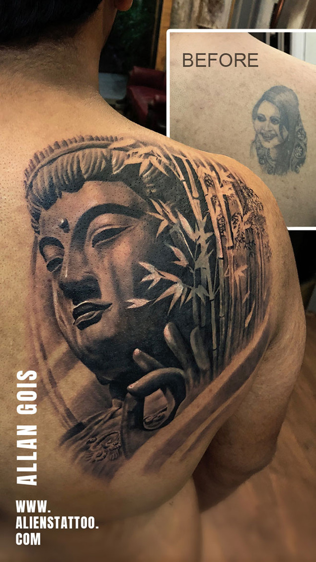 Greatest Tattoo Coverups That Will Amaze You Aliens Tattoo