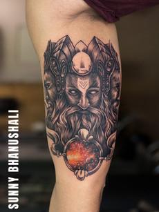 brahma-tattoo-at-aliens-tattoo-india