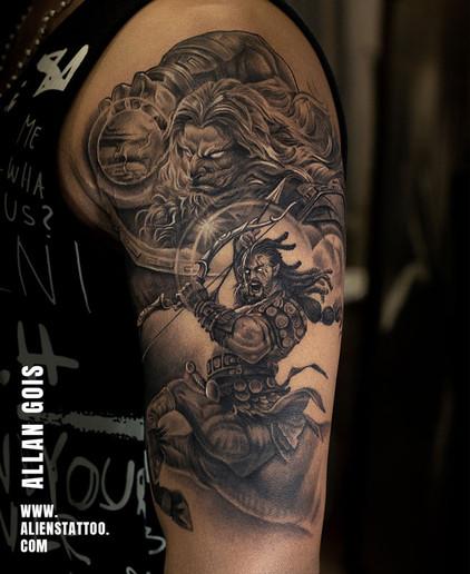 Aliens Tattoo - Realism Tattoo - Warrior Tattoo
