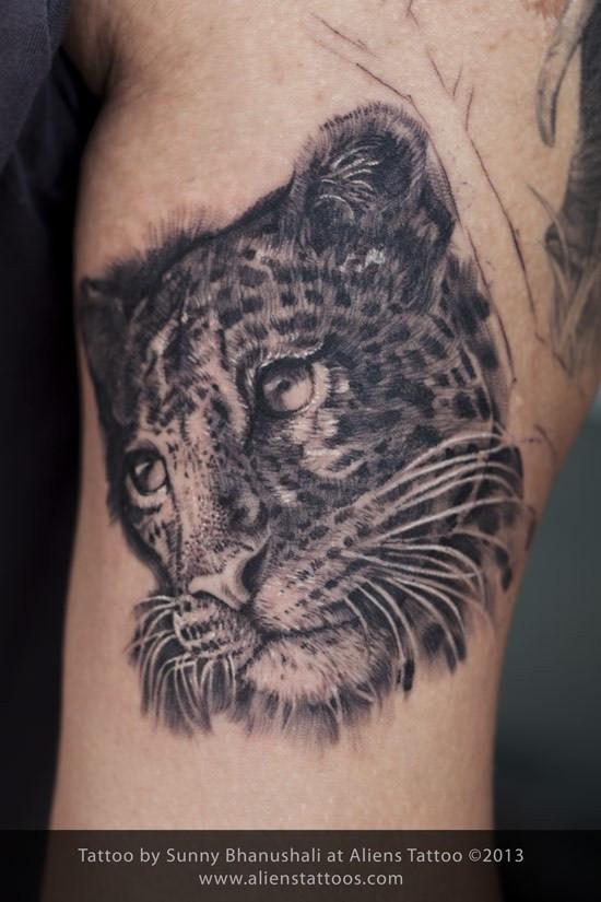 Leopard Portrait Tattoo
