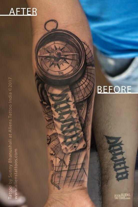 Cover Up Tattoo Aliens Tattoo India_